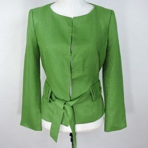 Zara Women Green Blazer Jacket